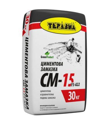 ЦИМЕНТОВА ИЗРАВНИТЕЛНА ЗАМАЗКА CM-15 30 КГ.