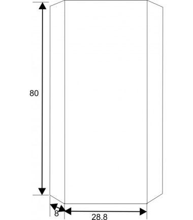 ОГЛЕДАЛЕН PVC ШКАФ ЗА БАНЯ ICMC 1030-30