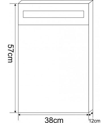 ОГЛЕДАЛЕН PVC ШКАФ ЗА БАНЯ ICMC 4650 - 40 LED