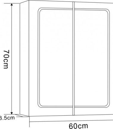 ОГЛЕДАЛЕН PVC ШКАФ ЗА БАНЯ ICMC 7013 LED