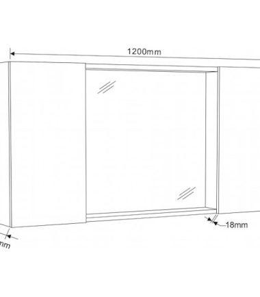 ОГЛЕДАЛЕН PVC ШКАФ ICMC 6014-120